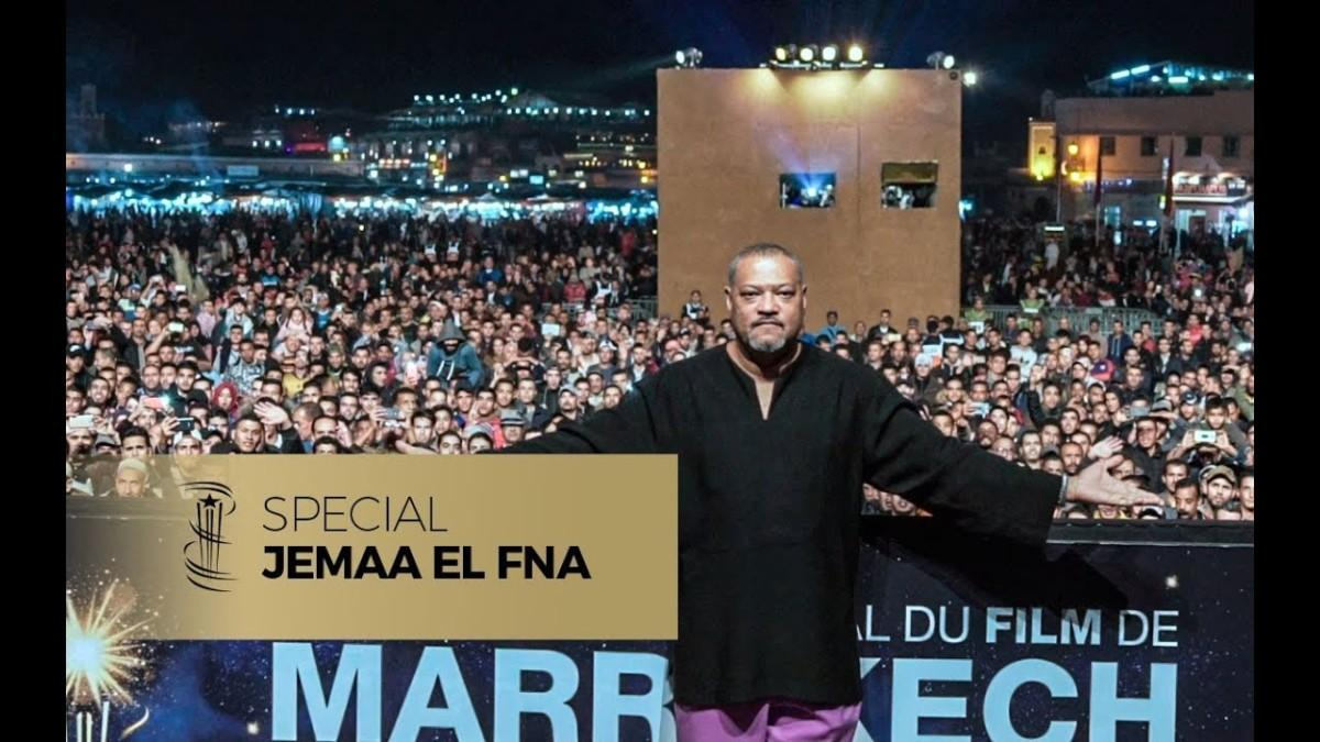 Daylightpeople.com Laurence Fishburne sur la place Jemaa El Fna