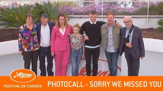 Daylightpeople.com SORRY WE MISSED YOU - Photocall - Cannes 2019 - VF